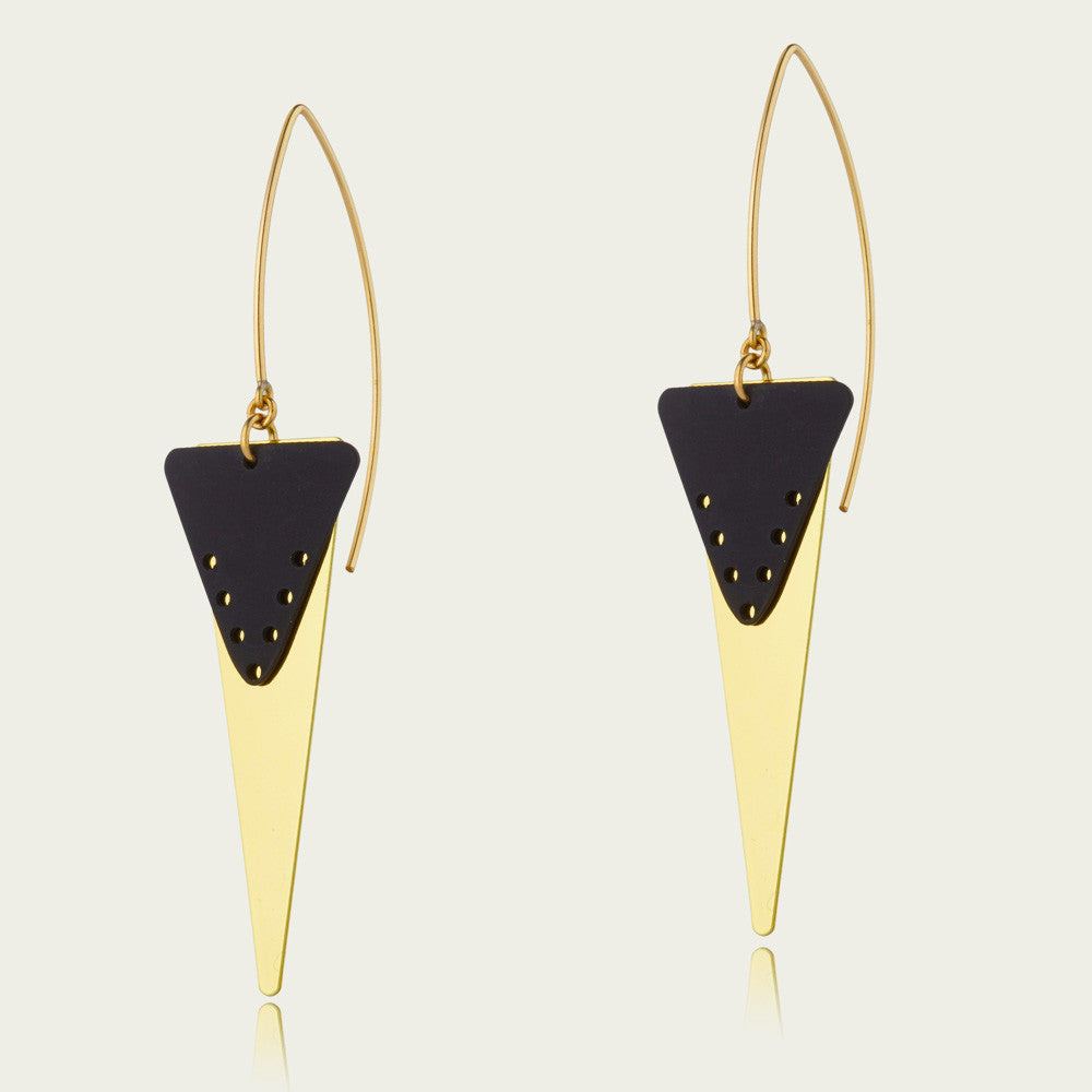 Statement Triangle Drop Earrings