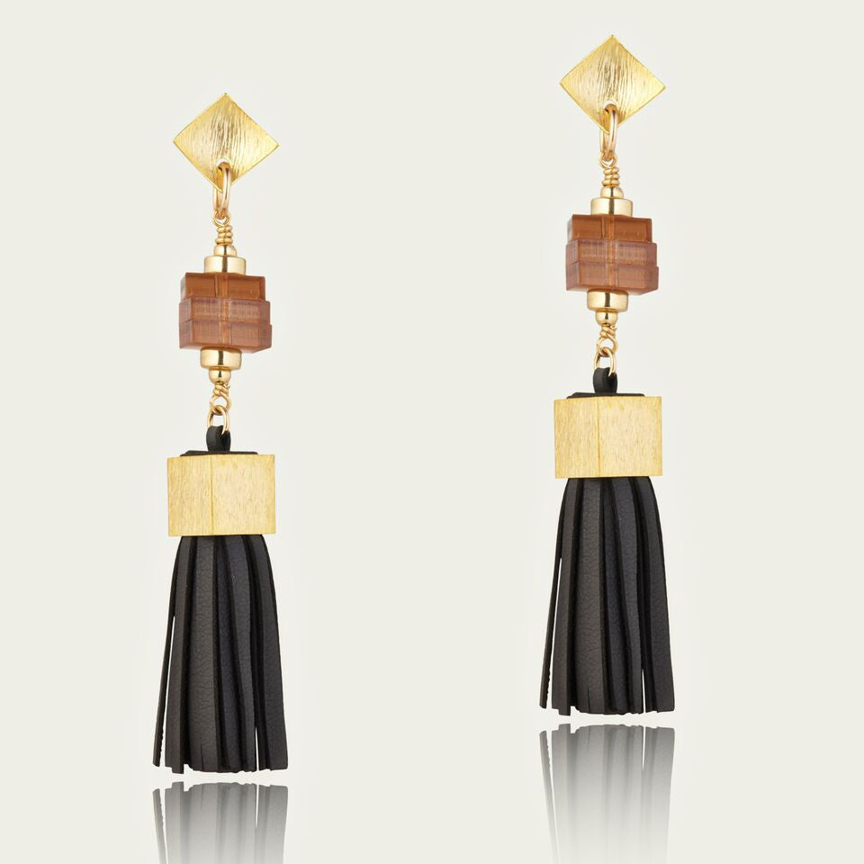 Leather Stack earrings - EGS1005h