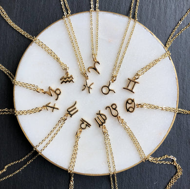 Zodiac necklaces by Jack & Freda