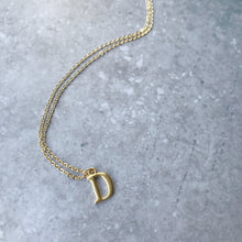 Load image into Gallery viewer, Initial necklace in matte gold-plate