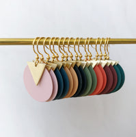COLOURED DISC EARRINGS - VARIOUS COLOURS