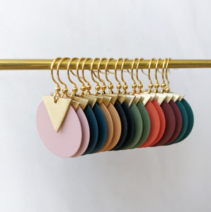 Coloured disc earrings by Jack & Freda