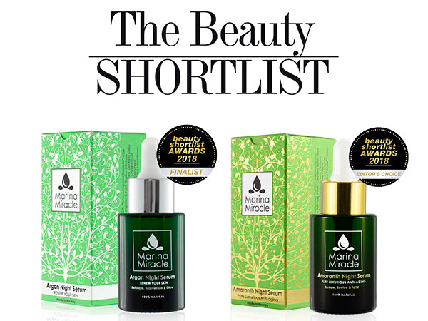 The Beauty Shortlist 2018 selected two of our products!
