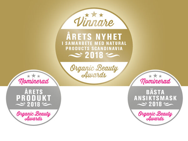 Winner of Organic Beauty Awards 2018