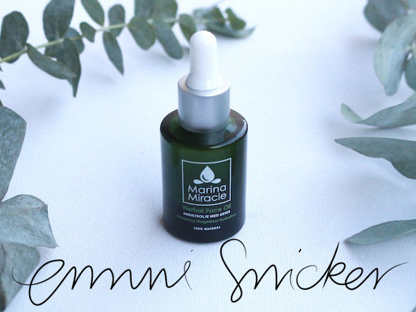 Emma tests our herbal face oil