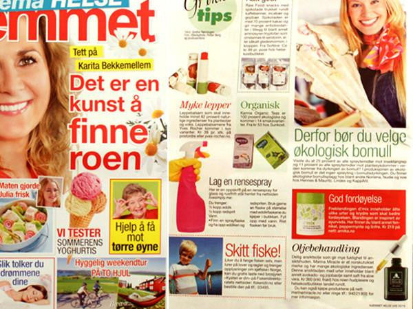 Herbal Face Oil in the Norwegian magazine Hjemmet