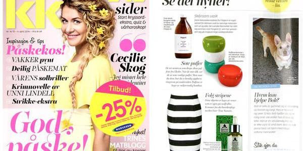 Herbal Face Oil in Norwegian KK Magazine