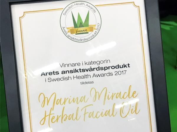 We won the best Facial Product of the Year!