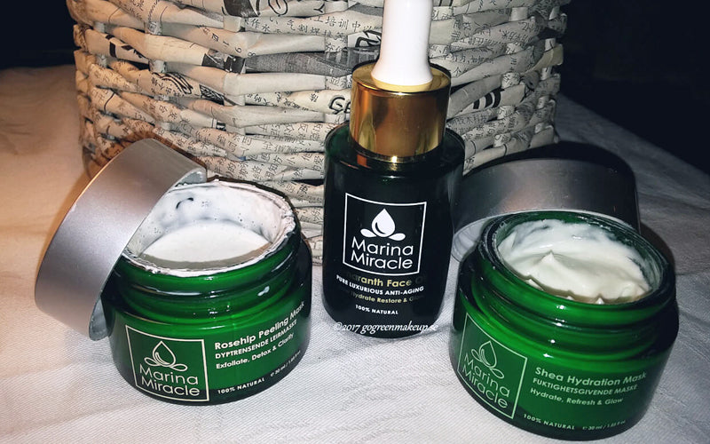 Go Green makeup and skincare marina miracle home spa