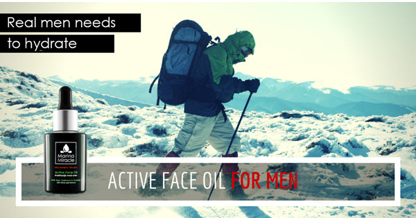 real men needs to hydrate with active face oil