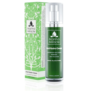 Acai Hydra Cream green bottle with green box