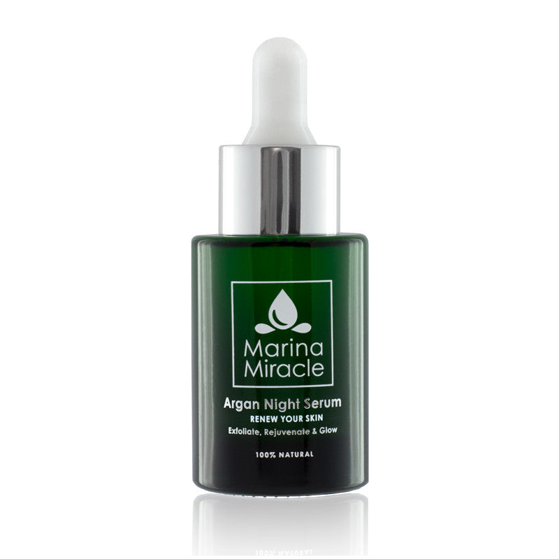 We use a dark green glass bottle that protects the product from UV light.
