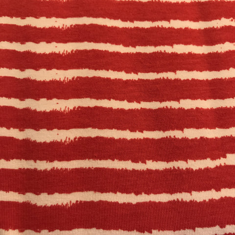 Elvelyckandesign tricot red stripes