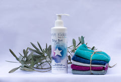 Liniment starter kit with 5 organic cotton washcloths