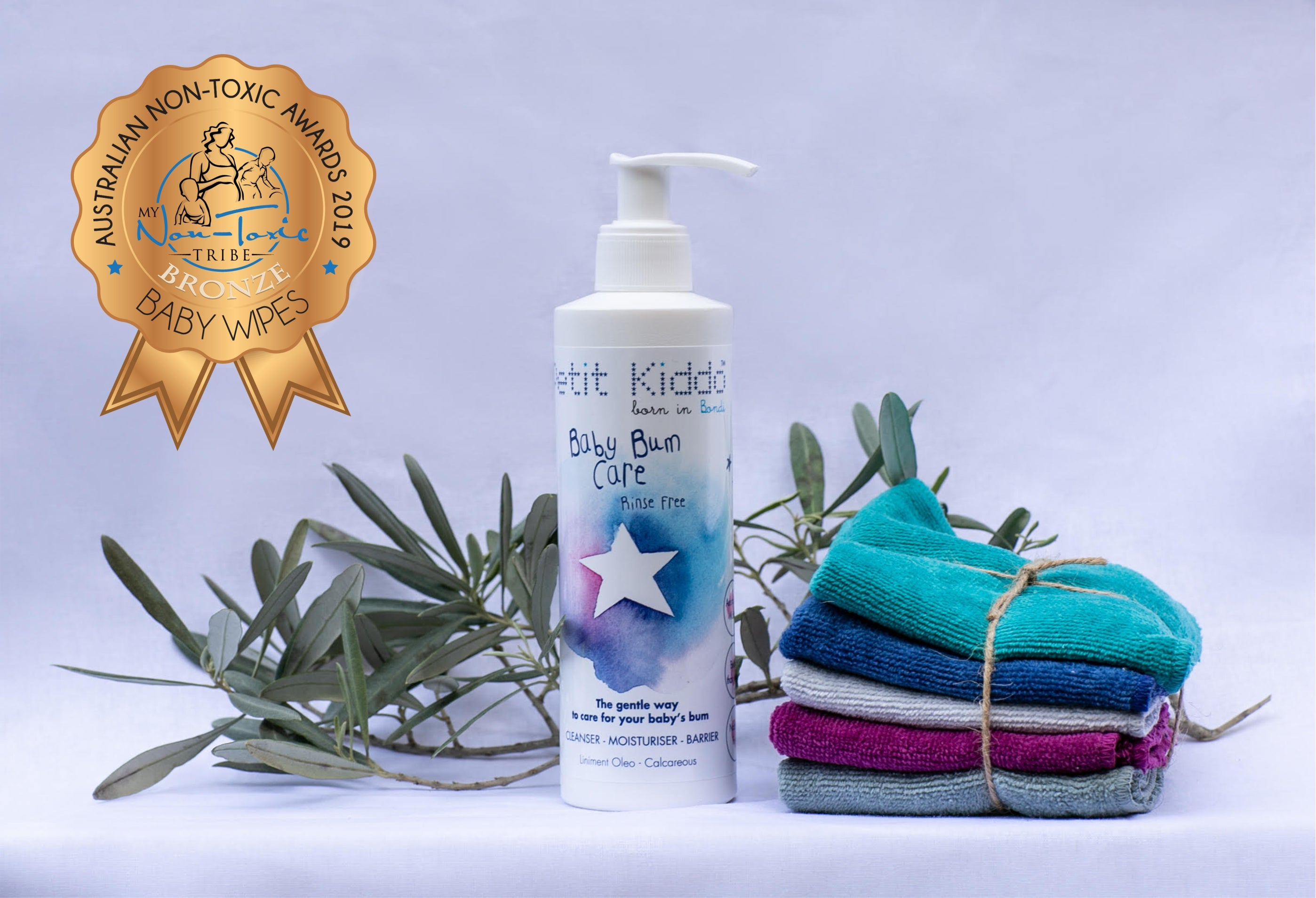 Nappy change with our Baby Bum Care  liniment