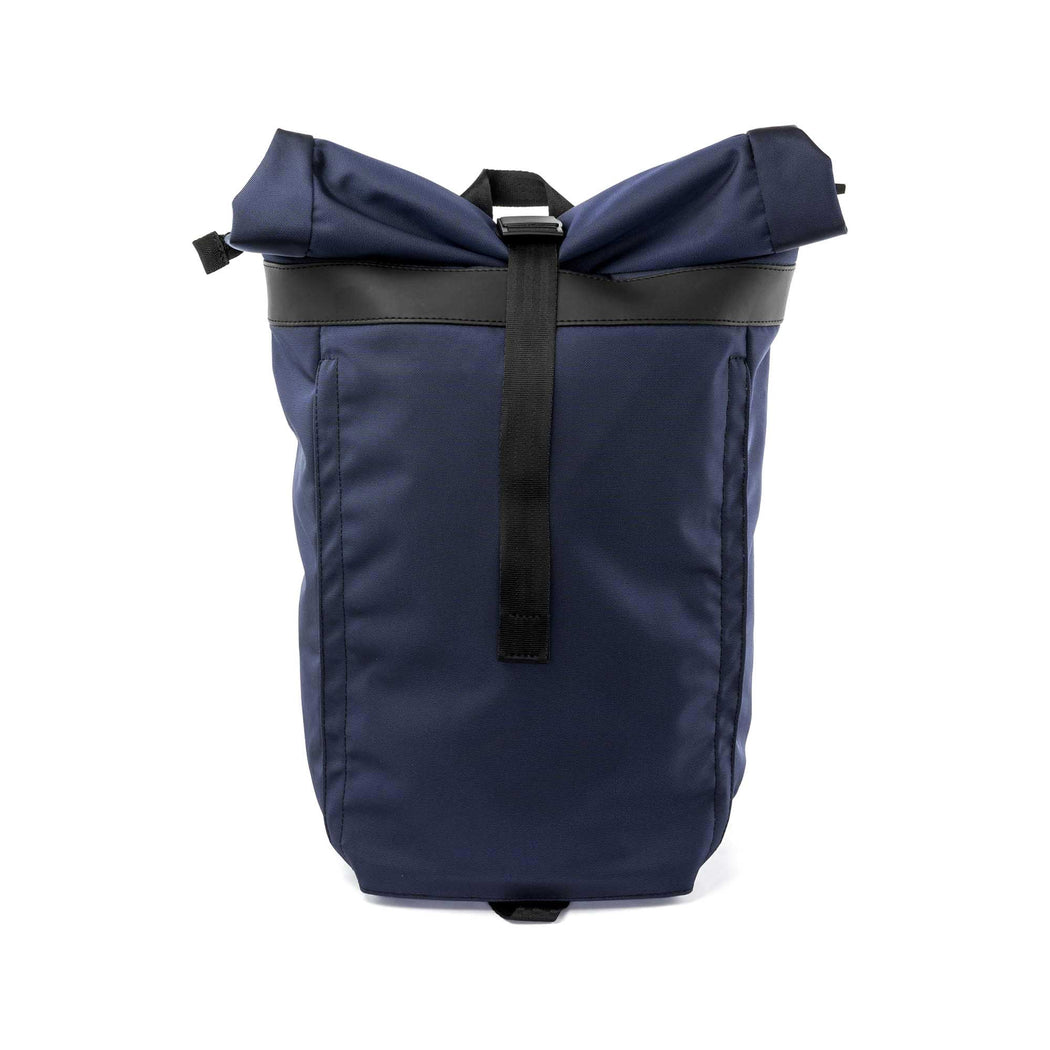 px weatherproof Invisible backpack rolltop dark blue - front