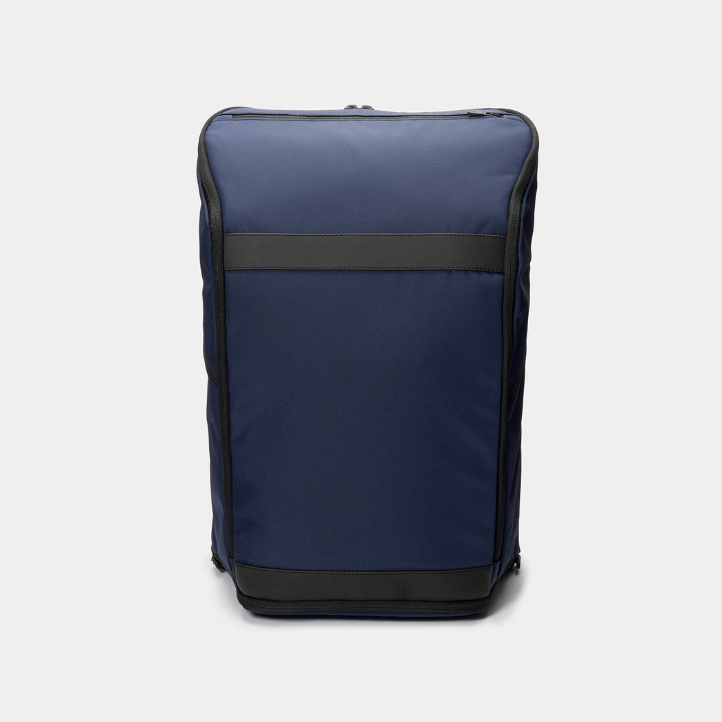 invisible backpack THREE in navy blue - front