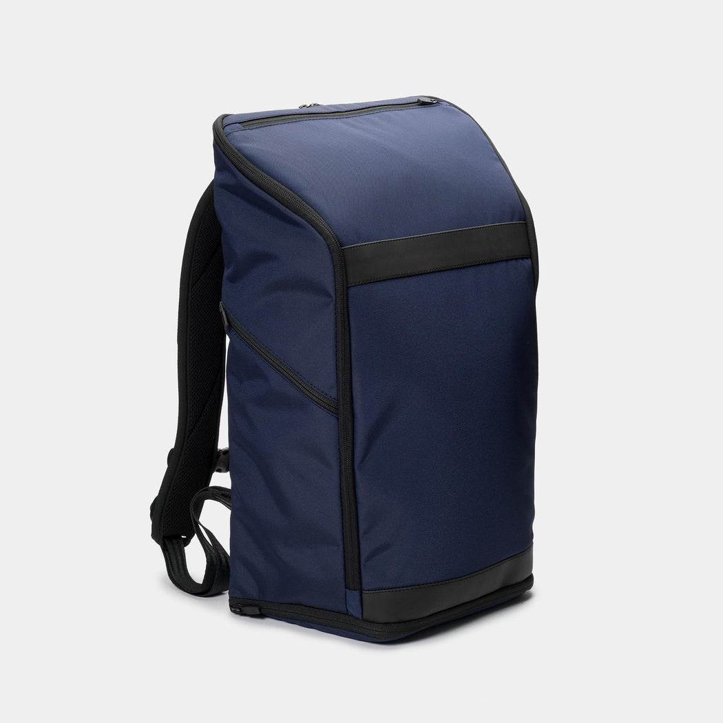 invisible backpack THREE in navy blue - side