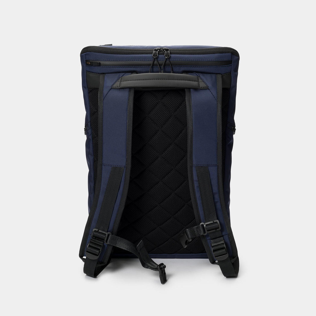 invisible backpack THREE in navy blue - back
