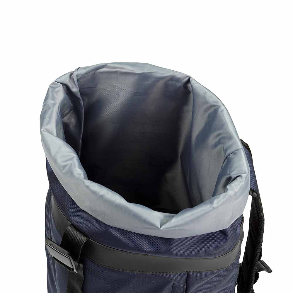 px weatherproof Invisible backpack rolltop dark blue - top