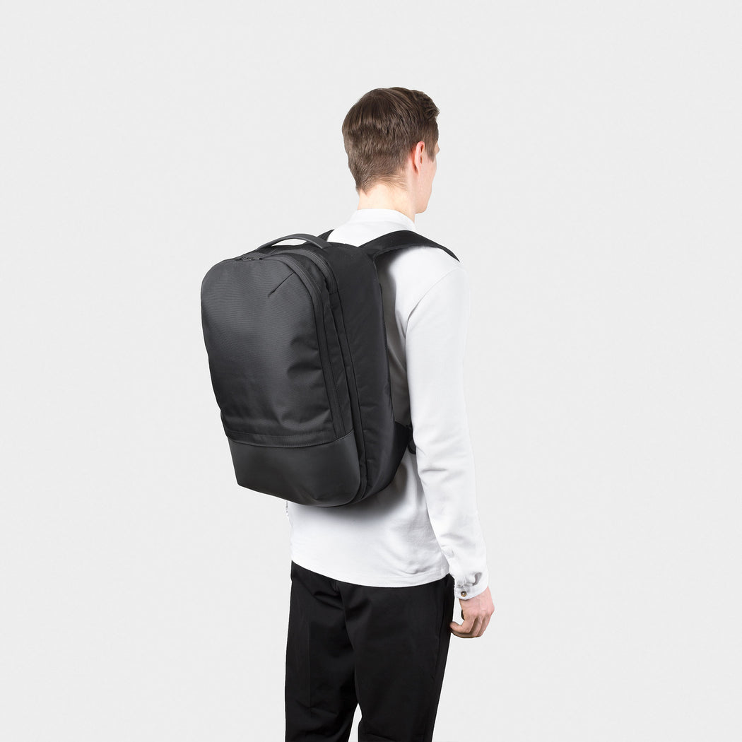 Opposethis Invisible Carry-on Backpack | Travel Backpack | Travel Pack | Clamshell Backpack | Black