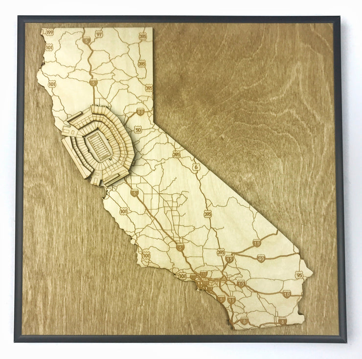 Stadium State Shape - California, San Francisco (Levi's Stadium)