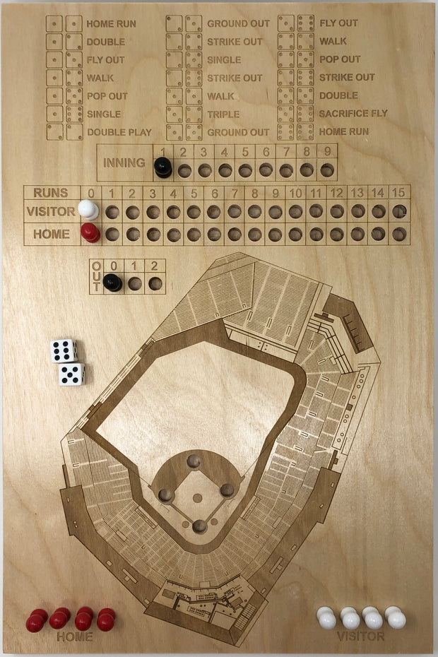 Stadium Map Art Dice Game