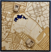 Stadium City Map - Liverpool, England (Anfield and Everton Stadiums)
