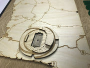 Stadium State Shape - Oregon, Eugene (Autzen Stadium)