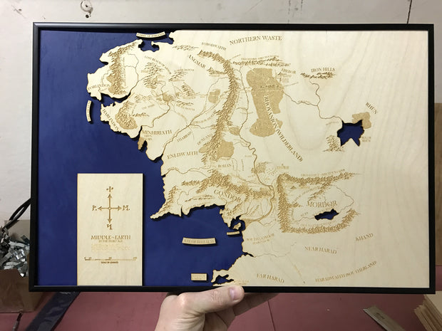 LOTR Map - Map of Middle Earth