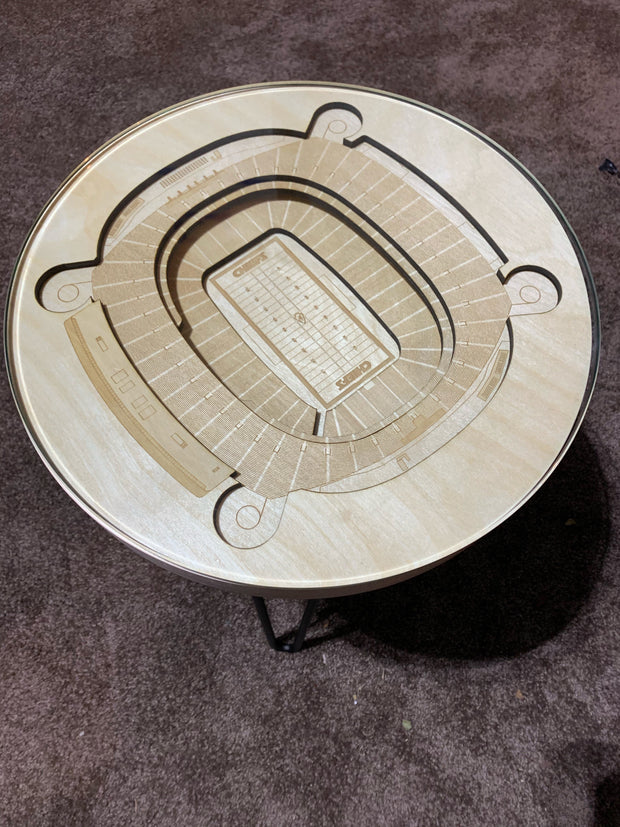 "Stadium Map Art 14"" Diam End Table"