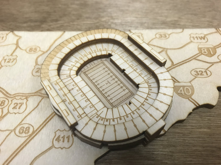 Stadium State Shape - Tennessee, Knoxville (Neyland Stadium)