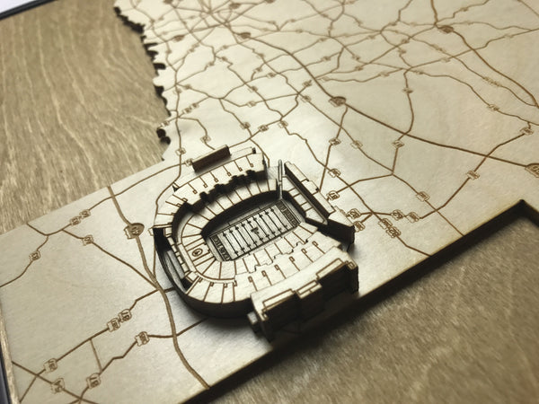 Stadium State Shape - Texas, Lubbock (Jones AT&T Stadium)