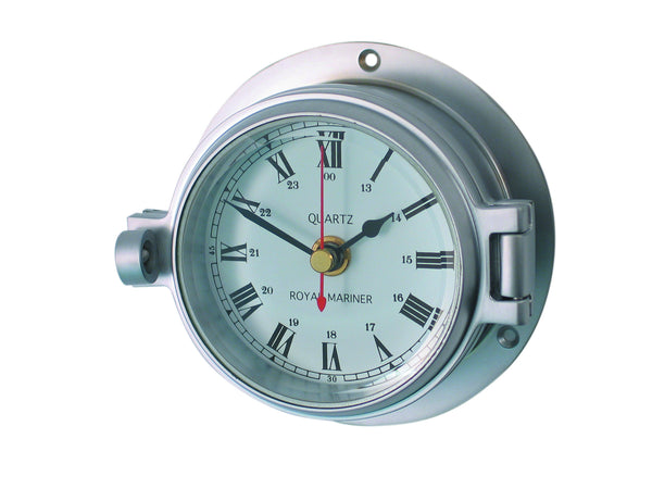 meridian zero channel range matt chrome clock