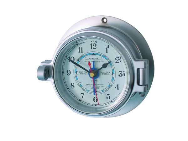 meridian zero channel range matt chrome tide clock