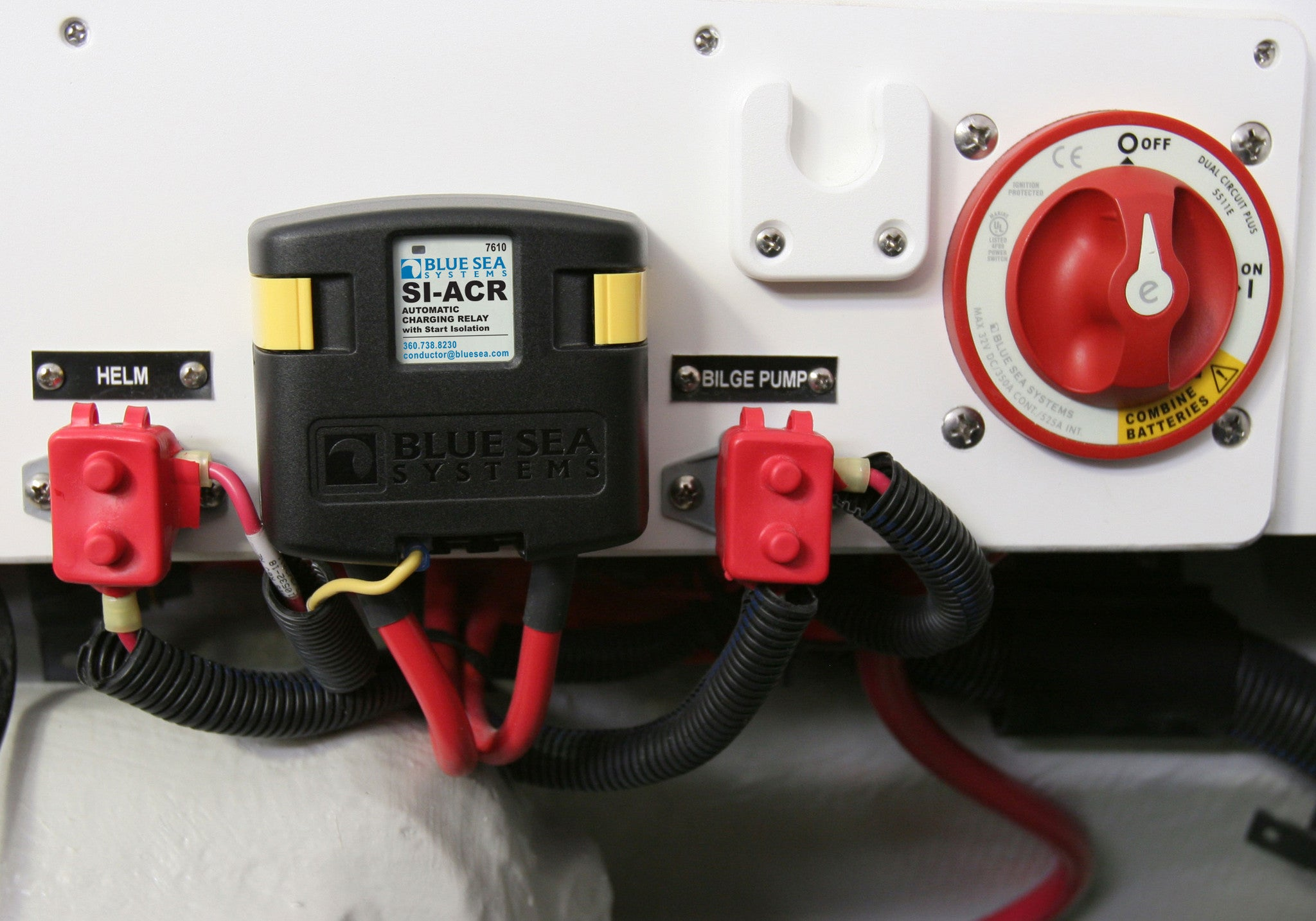 Blue Sea Dual Circuit Plus Battery Switch And Si Series Automatic Wiring Further Boat Isolator Diagram Charging Relay
