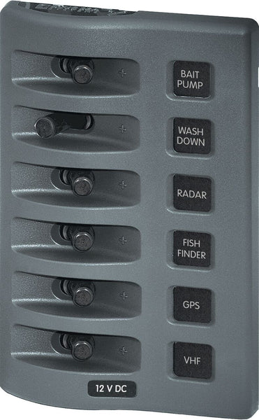Blue Sea Weatherdeck Water Resistant Switch Panel - 4, 6 or 8 Way