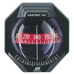 Plastimo Contest 130 Vertical Bulkhead Compass with Red Card