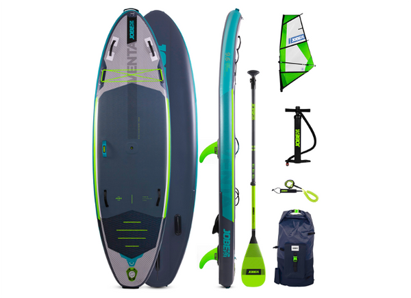 "Jobe Venta 9.6"" Inflatable Paddle Board with Venta SUP Sail - 2021 Model Available Late April"