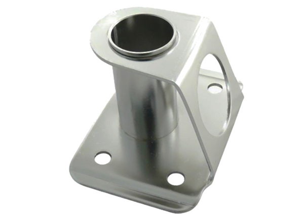 Proboat Stnd Stainless Steel Stanchion Base - Rectangle 0º