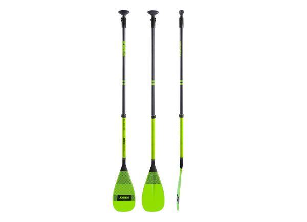 Jobe SUP Paddle Fiberglass 3 Pieces Lime Green - 2021 Model