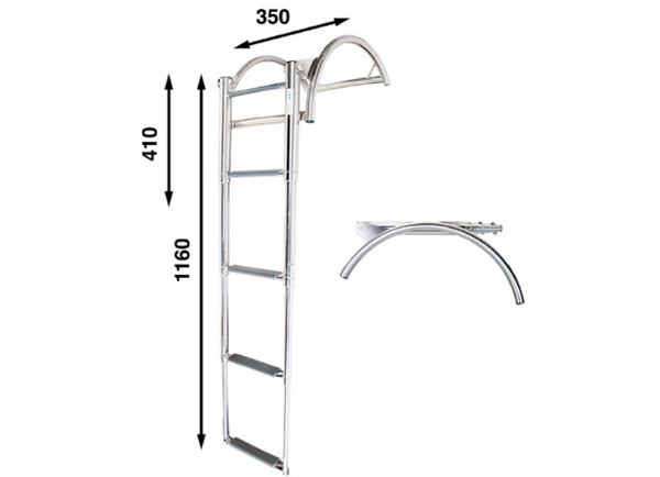 Batsystem RIB500 Boarding Ladder for Inflatable RIBS