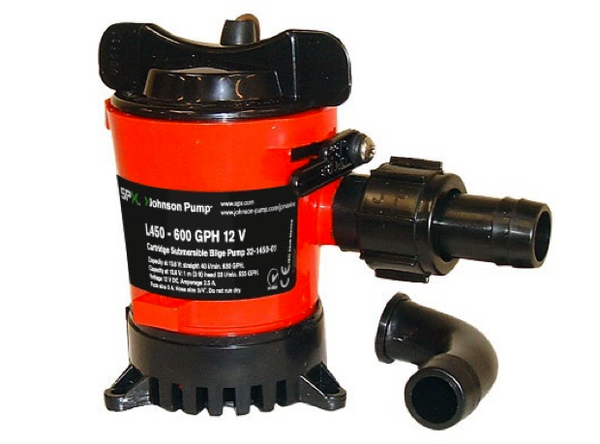 Johnson Cartridge Bilge Pumps Heavy Duty : Models L450, L550, L650, L750 12 or 24V
