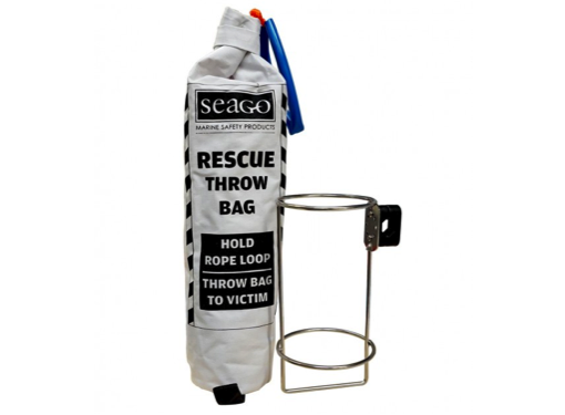 Seago MOB Throw Line in a Bag with Stainless Steel Holder