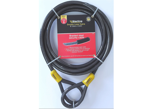 Sterling Security Braided Steel Cable - 2 Sizes