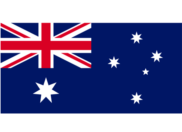 Australia Courtesy Flag Polyester 45 x 30cm