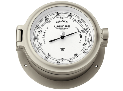 Wempe Cup Series Barometer 140mm - Nickel Plated Case