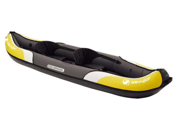 Sevylor Colorado Inflatable Kayak complete with 2 Paddles & Foot Pump