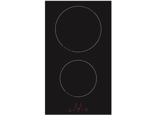 Techimpex Crystal 2 Induction Double Glass Ceramic Hob without Frame with Touch Control