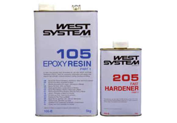West System B Pack 105 Epoxy Resin + 205 Hardener 6kg